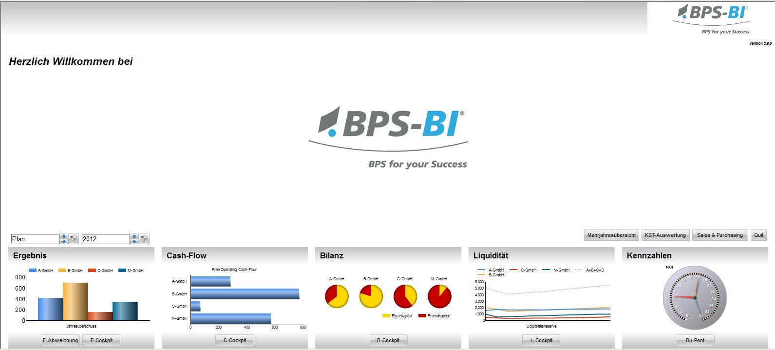 Screenshot: BPS-BI Welcome Screen